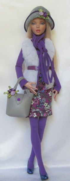 "Penelope's Purple Passion for 16"" Tonner Deja Vu Made by Ssdesigns 