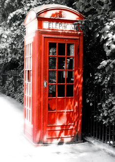 Red, black, and white image of a classic red phone booth in London, circa 1980s.  Choose 5x7, 8x10, or 11 x 14. This image is also available on a hand-stitched journal, jewelry, notecards, matted and/or framed, or as canvas wall décor. If you dont see it listed, convo me. See more of my art photography at https://www.etsy.com/shop/AlteredImagination?section_id=10004689&ref=shopsection_leftnav_1  All photos printed professionally on high-quality archival paper. Shipped speedy first class…