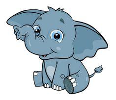 elephant free cartoon elephant clip art elephants pinterest rh pinterest com Elephant in the Middle of the Room clipart elephant in the room