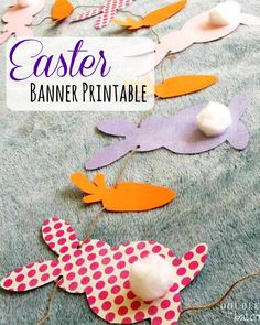 Enjoy this FREE Easter Banner Printable to decorate your home with this Spring!