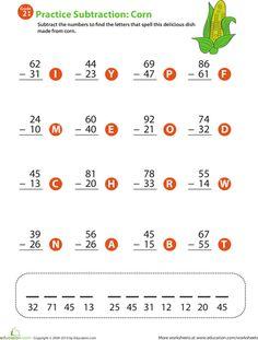 Worksheets: 2-Digit Subtraction