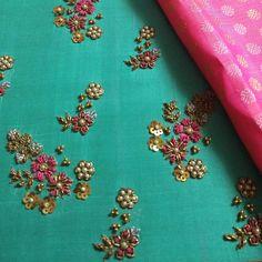Ideas for embroidery blouse designs Zardosi Embroidery, Couture Embroidery, Embroidery Motifs, Embroidery Fashion, Embroidery Dress, Beaded Embroidery, Embroidered Blouse, Floral Embroidery, Bead Embroidery Tutorial
