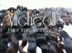 Mixture of Wavy, Straight and Curly Brazilian Hair