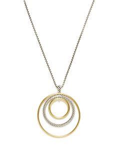 David Yurman Two-Tone Mobile Collection Pendant Necklace