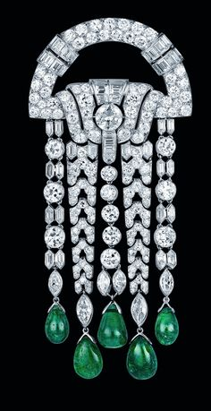 Brooch - Emeralds and Diamonds 1928