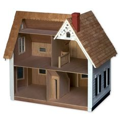 Dollhouse Kits by Greenleaf: The Westville Dollhouse Kit, Wooden Dollhouses Dollhouse Dolls, Dollhouse Miniatures, Dollhouse Ideas, Wooden Dollhouse Kits, Dollhouse Design, Haunted Dollhouse, Clapboard Siding, Toy House, Lego House
