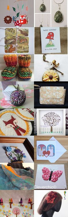 Woodland Wanderings  by Karen Cheetham on Etsy--featuring my animal gift tags