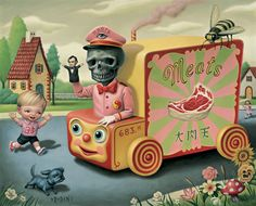 Cuddly Creepy Surrealism by Mark Ryden Mark Ryden, Art And Illustration, Creepy Art, Weird Art, Strange Art, Arte Pop, Art Sinistre, Arte Lowbrow, Meat Art