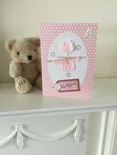 Handmade Card for a New Baby Girl £4.00