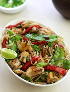Thai Lime Pepper Chicken Stir-fry - pair with Riesling