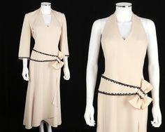 DAYMOR COUTURE 2-PC BEIGE EMBELLISHED COCKTAIL EVENING DRESS JACKET SET SZ 10 #Daymor #Formal