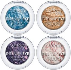 Catrice spring 2013 Intensif'Eye Wet & Dry eyeshadows in:  Dr Little Blue, Please was the line,  Ninja purples, Glamourose