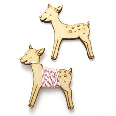 Flossy the Fawn Embroidery Floss Bobbin #handmade #embroidery #sewing