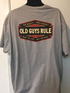 Old Guys Rule T-Shirt 2XL Perfect for Father's Day #OldGuysRule #GraphicTee