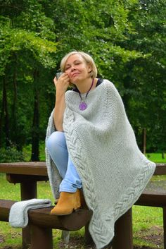 PONCO. It is probably the most wonderful and needed knit during bad or good weather. You can wrap Yourself in this soft wool ponco like in a blanket. It can even be used as a blanket to cover Your child, husband or mother. It can be worn with the neck cowl or without. It is huge and very long, and will definitely warm You up and make You feel cozy. Buy the scheme now and You will be able to spend the long winter evenings wrapped in Your own knitted ponco.MY PATTERNS are written in standard…