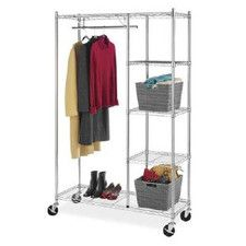 Portable And Expandable Garment Rack In Black Chrome 18 Months Fair Product Image For Dual Bar Adjustable Garment Rack 2 Out Of 2