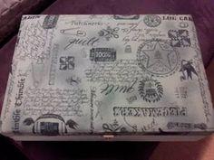 Caixa MDF decorada com tecido
