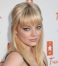 I want cute straight across bangs like these. actually, I just don't think with my cowlick this would work at all