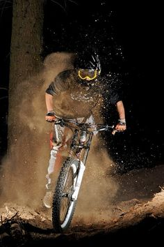 The thrill of riding at night is awesome!