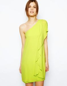 Browse online for the newest ASOS Frill One Shoulder Shift Dress styles. Shop easier with ASOS' multiple payments and return options (Ts&Cs apply). Shift Dresses, Maxi Dresses, Party Dresses, Cute Dresses, Girls Dresses, Asos Dress, Stylish Outfits, Stylish Clothes, Clothes