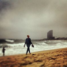 Barcelona is beautiful even in a stormy day! #barceloneta #bcn #barcelona #sea #view #scape #travel