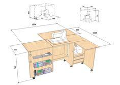 Швейный стол Комфорт 5+ (c доп. поверхностью для раскроя)