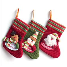 Christmas Santa Snowman Elk Sock Shape Hanging Ornaments, Iusun Xmas Tree Holiday Party Home Decoration (B) -- You can get additional details, click the image : Garden Christmas Wreaths