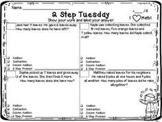 2 Step Word Problems- FREEBIE