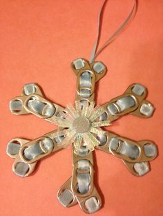 Pop Tab Snowflake Ornament. $5.00, via Etsy.