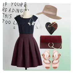 """dress"" by masayuki4499 ❤ liked on Polyvore featuring Designers Guild, Closet London, Miu Miu, Chloé, Alexis Bittar and Topshop"
