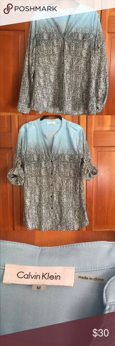 Calvin Klein Blouse NWOT Double breast pockets. Sleeves my be worn up or down. Calvin Klein Tops Blouses