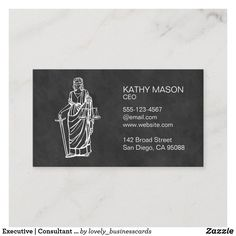 Executive | Consultant | Lawyer Law Business Card Elegant Business Cards, Cool Business Cards, Business Card Design, Lawyer Business Card, Executive Consultant, Stock Broker, Paper Texture, San Diego, Things To Come