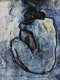Pablo Picasso - Blue Nude This masterpiece is one of the Picasso's early works. It was created in 1902 at a time when Pablo Picasso was still mourning over a friend's tragic death.