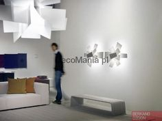 The Big Bang wall ceiling lamp by Foscarini, Price Match Guarantee! Ceiling or wall lamp composed by overlapping planes in white, red and grey metacrylate. Big Bang, Luminaire Design, Lamp Design, Lighting Design, Modern Home Furniture, Contemporary Furniture, Luxury Furniture, Ceiling Lamp, Ceiling Lights