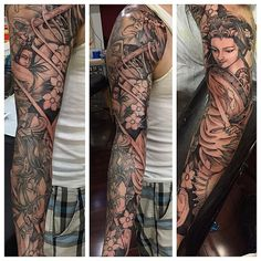 Zelda inspired Japanese sleeve, in progress, UPDATE (Nha Nguyen - Omkara Tattoo, Philadelphia, PA) - Imgur