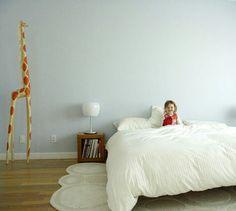Blue & white minimal room