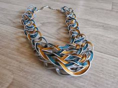 12.) It's hard to believe this gorgeous necklace is made from used Nespresso pods.
