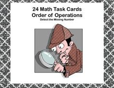 If you're looking for a challenge for your students, this is the product for you. These 24 task cards ask your students to find the missing number in each problem.  They have to remember to use the correct order as they work through to find the missing number.