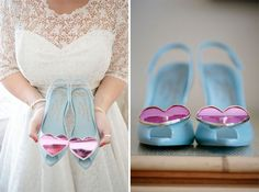 something blue wedding shoes! http://www.lucybirkhead.com/