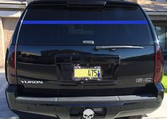 Police Support Thin Blue Line Rear Window by LuckyGirlDesignLoft