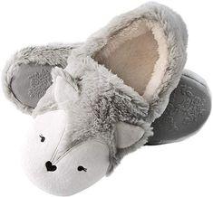 Rains Pan Cartoon Cute Panda Anti-Slip Plush Slippers Indoor Home Shoes