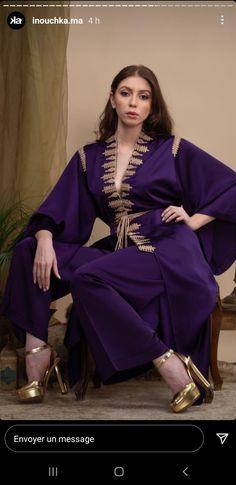 Morrocan Dress, Moroccan Caftan, Moroccan Style, Mode Kimono, Mode Abaya, Abaya Designs, Russian Fashion, Abayas, Sari
