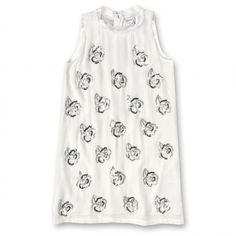 Shop now @dinoelucia this gorgeous silk dress completely hand embroidered with large camellias in beads, in matching tones on the light grey & white - (Name : DS2NAOKI)