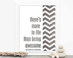 Funny Poster Being Awesome - Humor Cheeky Snarky Modern Chevron Digital Art  Print - White Charcoal Gray on Etsy, $15.00