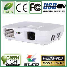 720.00$  Buy now - http://alitku.worldwells.pw/go.php?t=32710974546 - 5% Discount CRE X2000VX 1920*1080 2HDMI 2USB VGA ATV 2Video DVI data show projector