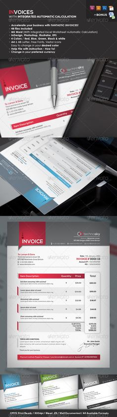 Invoice \ Quote Design by Pascale Dufour, via Behance MY FIRST - invoice designs