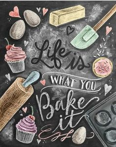 Cute chalkboard art print for a Shabby Chic kitchen!