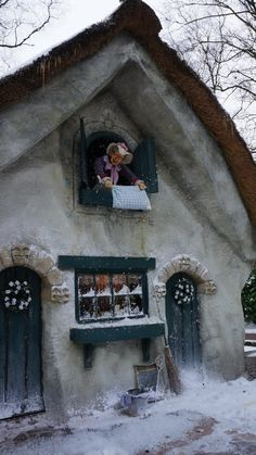 Efteling This picture is re-pinned a lot-- I investigated & found out that this little lady is supposed to be Anton Pieck's Mother!!!!