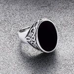 Celtic Onyx Ring - typical male jewellery to add to a costume