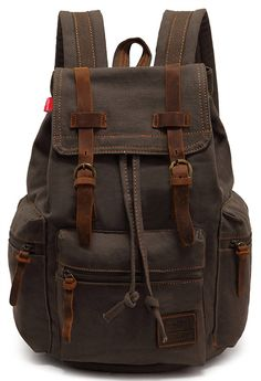 EcoCity Vintage Canvas Backpack Rucksack Casual Daypacks *** To view further for this item, visit the image link. (This is an Amazon Affiliate link and I receive a commission for the sales)